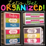 Teacher Toolbox Labels and Sterilite Drawer Labels {Colorful Pattern Edition}