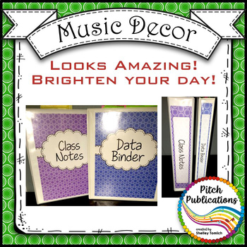 Let's Get Organized - RAINBOW BRIGHTS - Music Binder Covers!  Amazing Colors!