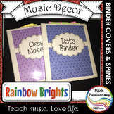 Let's Get Organized - RAINBOW BRIGHTS - Music Binder Cover