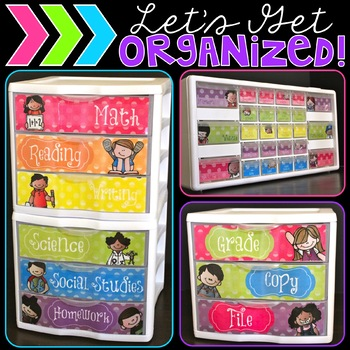 Let's Get Organized {Rainbow Polka Dot Edition}