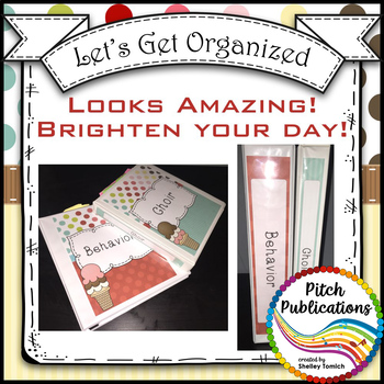 Let's Get Organized - SWEET SHOPPE - Music Binder Covers!  Amazing Colors!