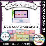 Let's Get Organized - Wooden Computer Desktop Graphic Organizers - Wallpaper