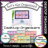 Let's Get Organized - Wooden Computer Desktop Graphic Orga