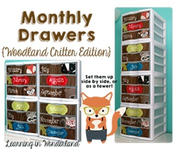 Let's Get Organized {Woodland Critters Edition - Teacher Toolbox and More!}