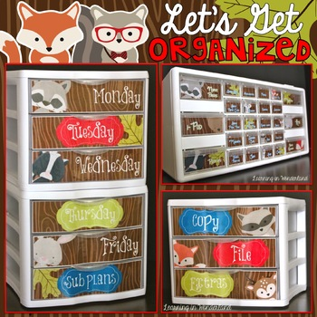 Let's Get Organized {Woodland Critters Edition - Teacher T