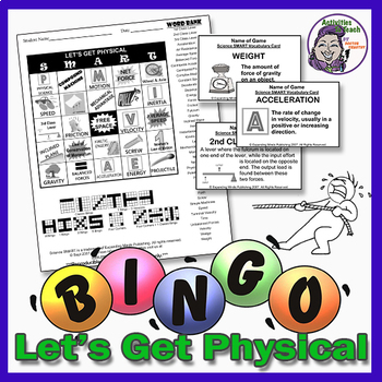 Let's Get Physical Science Bingo Game