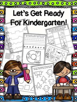 Let's Get Ready for Kindergarten Pack!