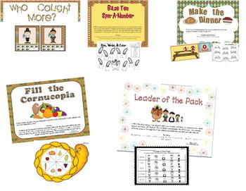 Let's Give Thanks {Math and Literacy Activities for the Common Core}