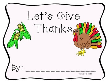 """Let's Give Thanks"" Student Book"