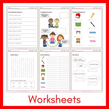 Let's Go 1 - Let's Remember Worksheets (FREEBIE!)