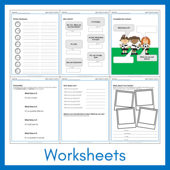 Let's Go 3 - Unit 6 Worksheets (+150 Pages!)