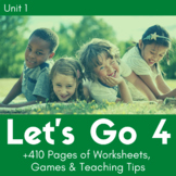 Let's Go 4 - Unit 1 Worksheets (+180 Pages!)