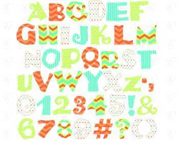 Let's Go Alphabet and Numbers Clipart by Poppydreamz