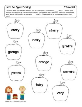 Let's Go Apple Picking ~ Articulation!