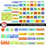 Let's Go Bulletin Board Calendar Clipart by Poppydreamz
