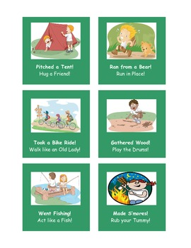 Let's Go Camping!  A CVC Literacy Center Game