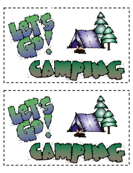 Let's Go Camping Emergent Reader