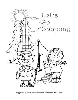 Let's Go Camping File Folder Match