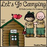 Camping Math Centers Activities for Kindergarten