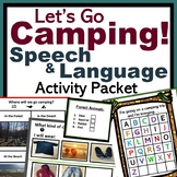 CAMPING Speech Therapy Packet - Games, Team Activities, Problem Solving