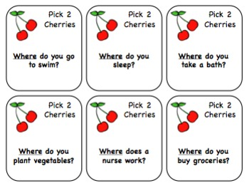 "Let's Go Cherry-O! ""Wh"" Questions"