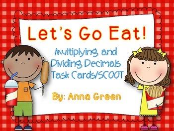 Let's Go Eat! Multiplying and Dividing Task Cards