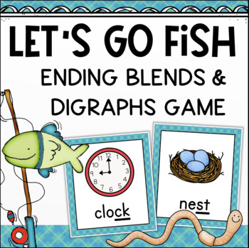 Blends and Digraphs Ending Sounds Game
