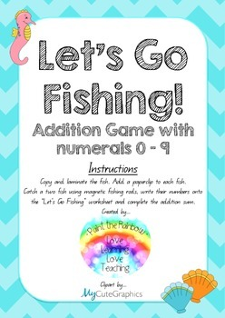 Let's Go Fishing Addition Game