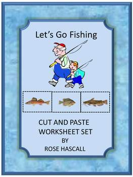 Summer Fishing Cut and Paste Activities, Summer Special Education, Summer Review