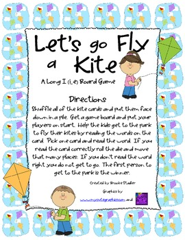Let's Go Fly a Kite - A Long i (i_e) Board Game