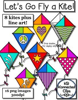Kite Clip Art - Let's Go Fly a Kite!