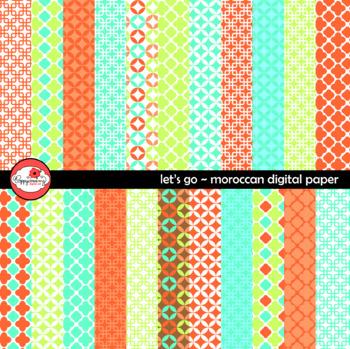 Let's Go Moroccan Digital Paper by Poppydreamz