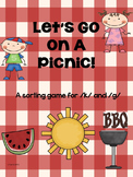 Let's Go On A Picnic  Sorting Game for K and G Sounds Speech Therapy