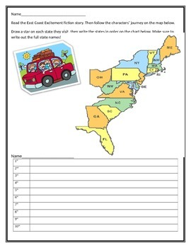Let's Go On A Road Trip! Realistic Fiction, Map and Persuasive Writing Project