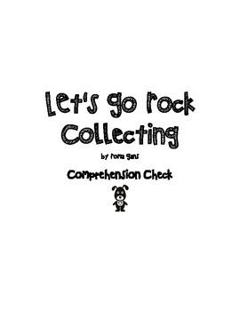 Let's Go Rock Collecting Comprehension Check