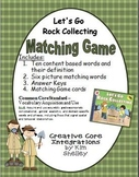 Let's Go Rock Collecting Matching Game and Quizzes