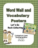 Let's Go Rock Collecting Vocabulary Posters and Word Wall