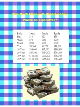 The Cost of Smoking.   Don't buy cigarettes, go shopping instead!