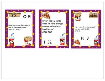 Let's Go Shopping - A Problem Solving Money Bingo Game