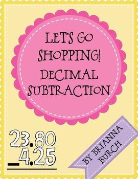 Let's Go Shopping!- Decimal Subtraction