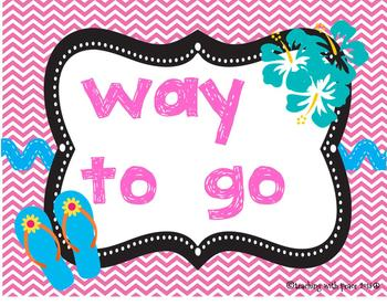 Let's Go Surfin' Behavior Management Chart (beach, tropical, Hawaiian theme)