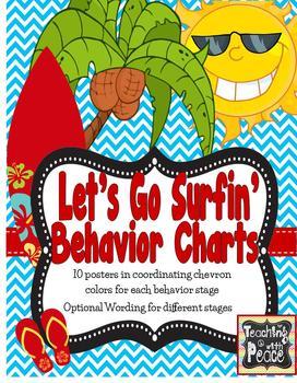 Let's Go Surfin' Behavior Management Chart (beach, tropica