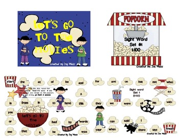 Let's Go To The Movies!  A Sight Word Game