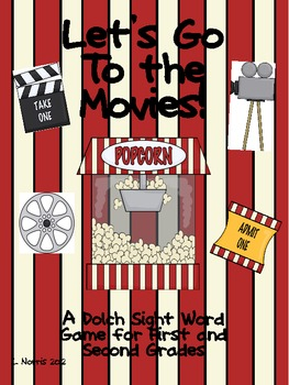 Let's Go To The Movies!  Dolch Sight Word Popcorn Game