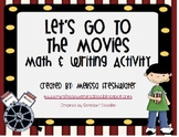 Let's Go To The Movies Math & Writing Activity