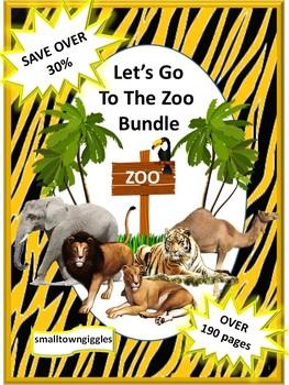 Zoo Math and Literacy Centers NO PREP/LOW PREP Bundle