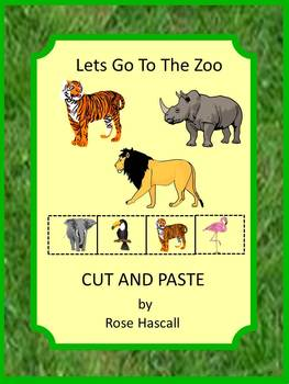 Zoo Animals Cut and Paste Special Education and Autism Resources