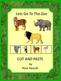 Zoo Animals Kindergarten Special Education Autism Cut and