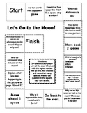 """""""Let's Go To the Moon"""" Comprehension Game Board- Journeys story 1st grade"""