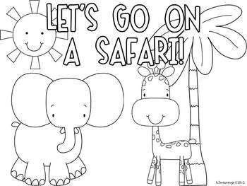 Let's Go on a Safari! Animals of Africa book